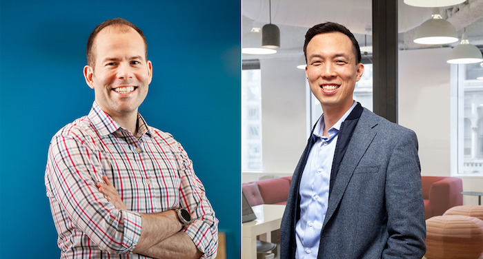 Francis Moran (left) and Rich Liu, TripActions' finance team. Photographs by Helynn Ospina