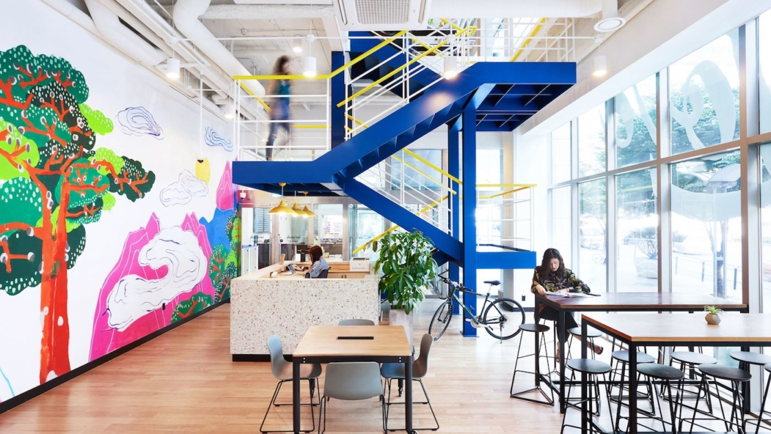 WeWork Seolleung i Seoul, Sydkorea. Fotos af The We Company