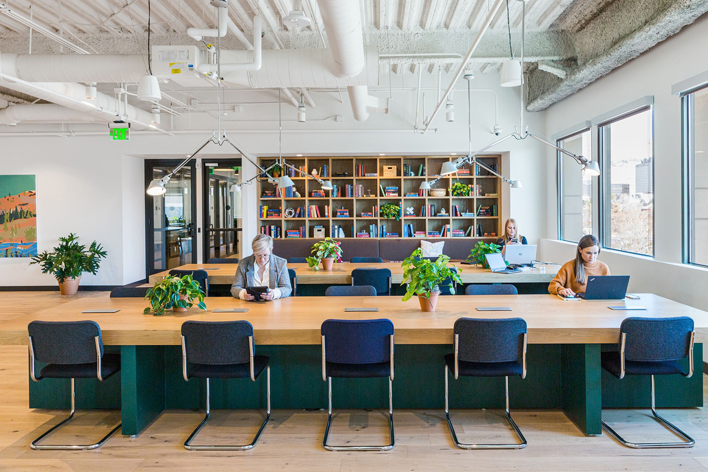 WeWork Gateway 1 in Salt Lake City. Photographs by WeWork