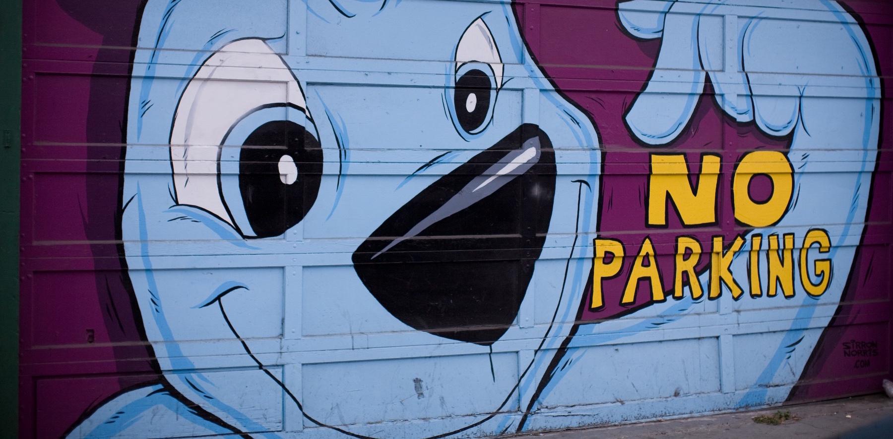 No parking sign Scott Beale/Flickr