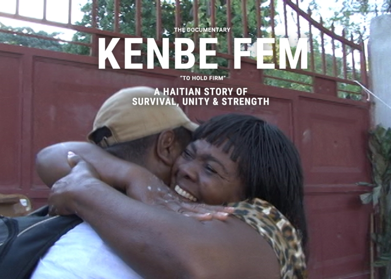 A poster for the documentary about David Pierre-Louis and his search for his mother after an earthquake devastated Haiti in 2010.