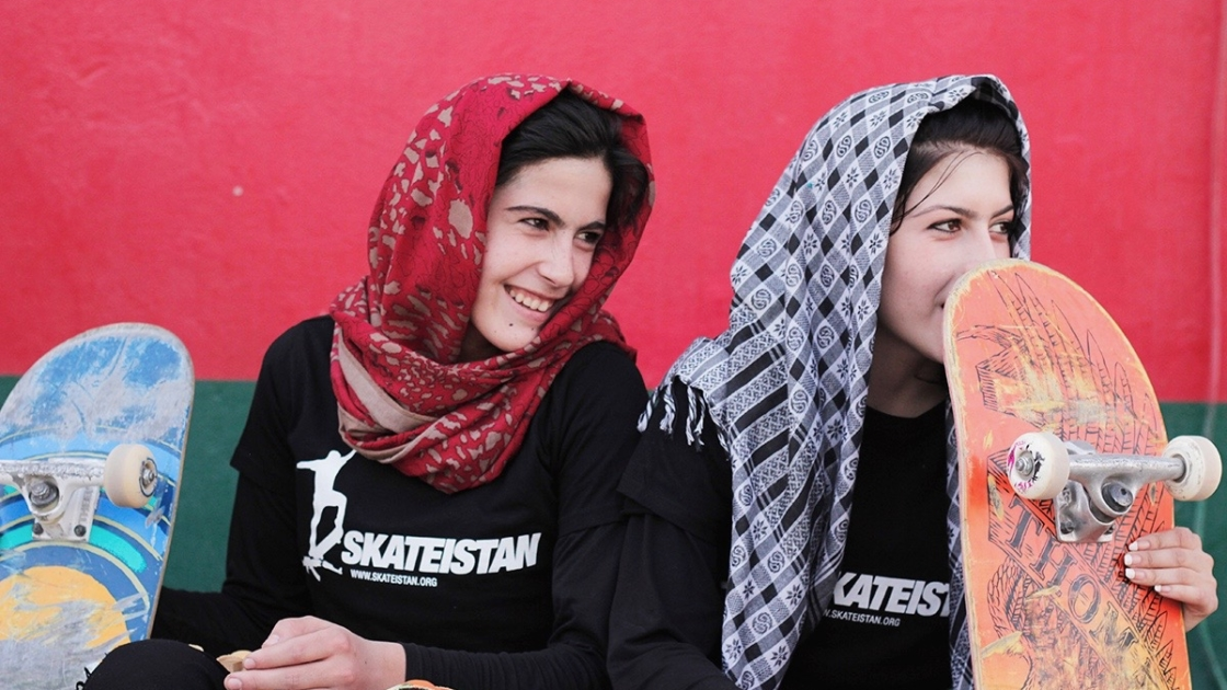 Girls from Skateistan
