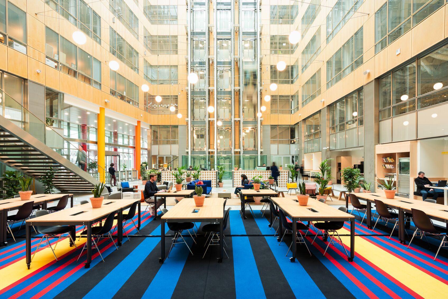 WeWork 198 Avenue de France in Paris. Photographs by The We Company