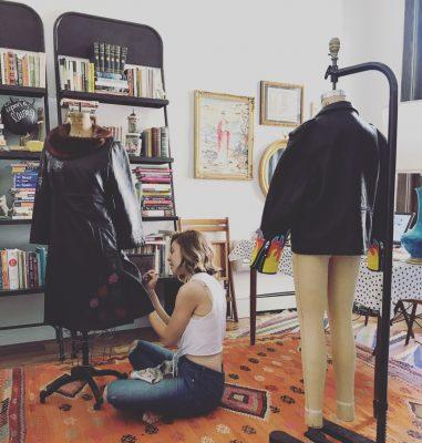 New York City Creator Awards Winner Lauren Bienvenue in her Jersey City art studio