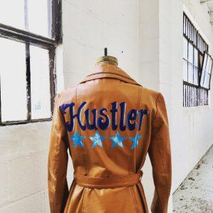 Repurposed leather jacket