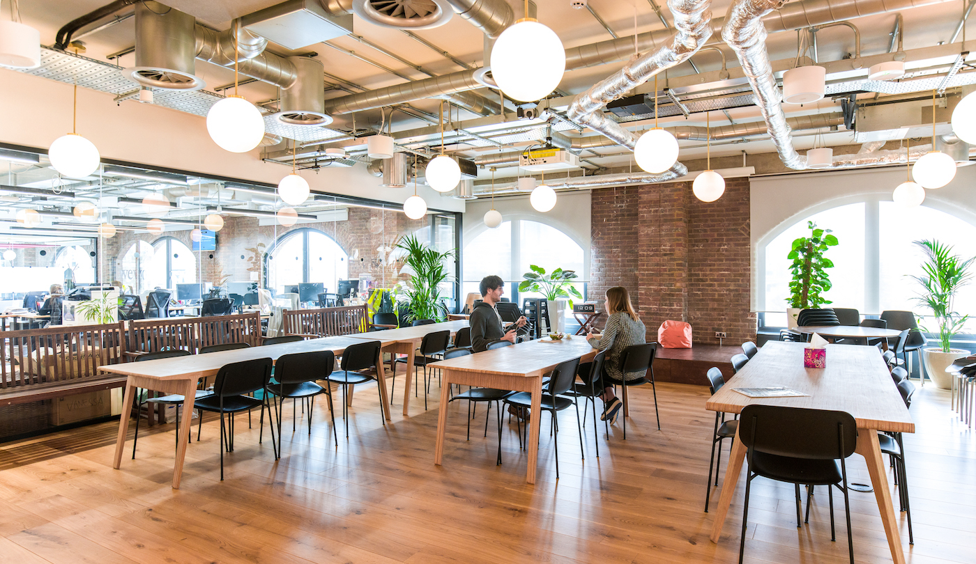WeWork at 1 St Katharine's Way in London. Photographs by The We Company