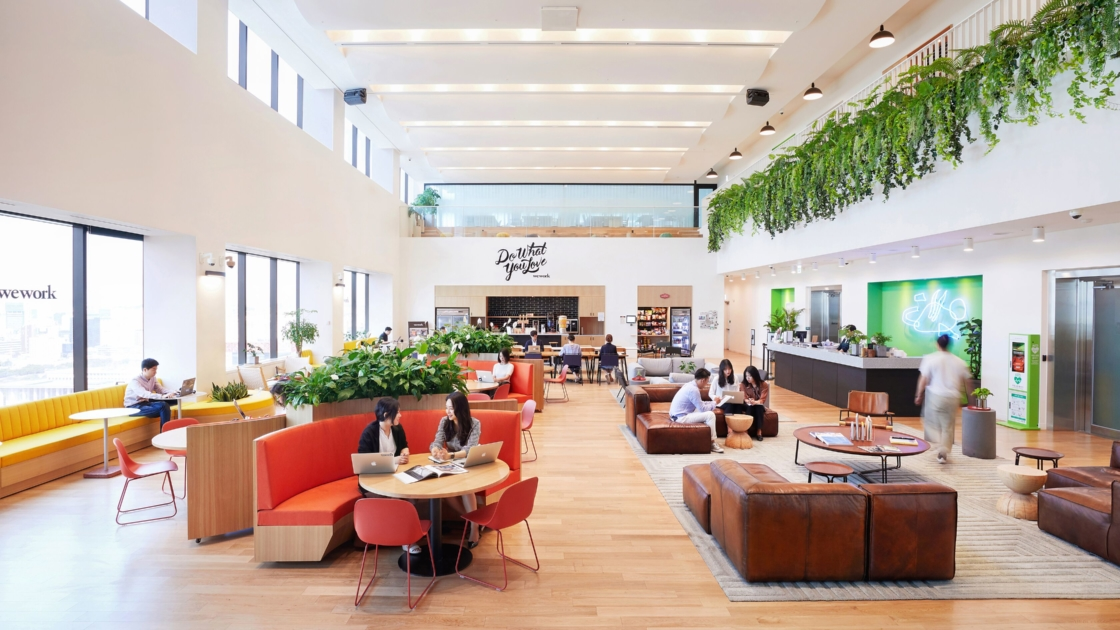 WeWork Yeouido Station in Korea. Photograph by The We Company