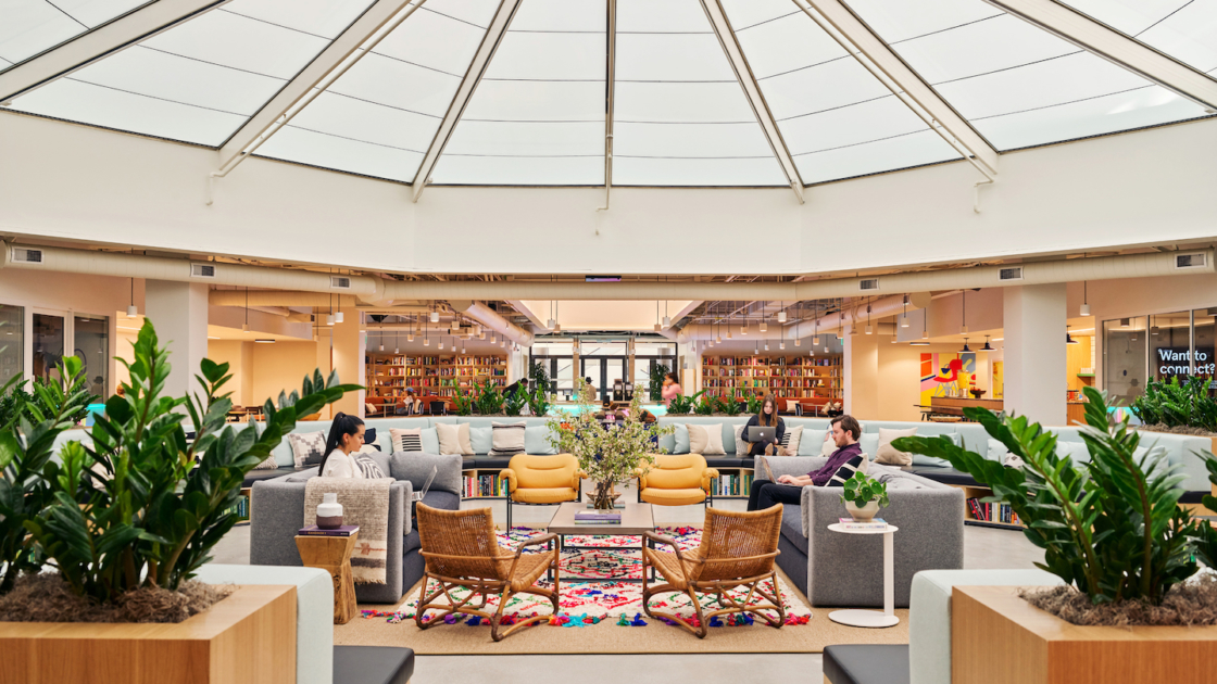 WeWork Pacific Design Center in California. Image courtesy of The We Company