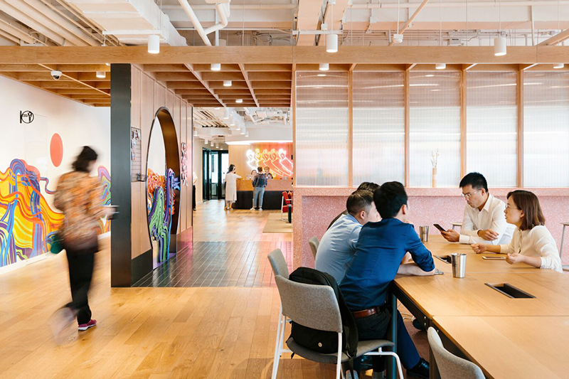 WeWork Leading Center in Chengdu, China.