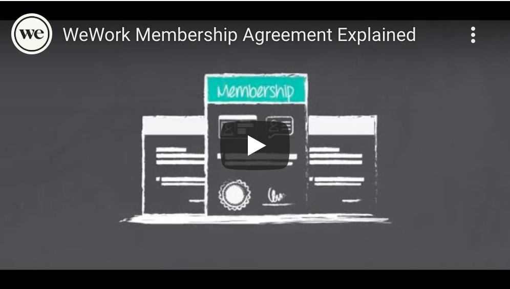 WeWork Membership Agreement Explained