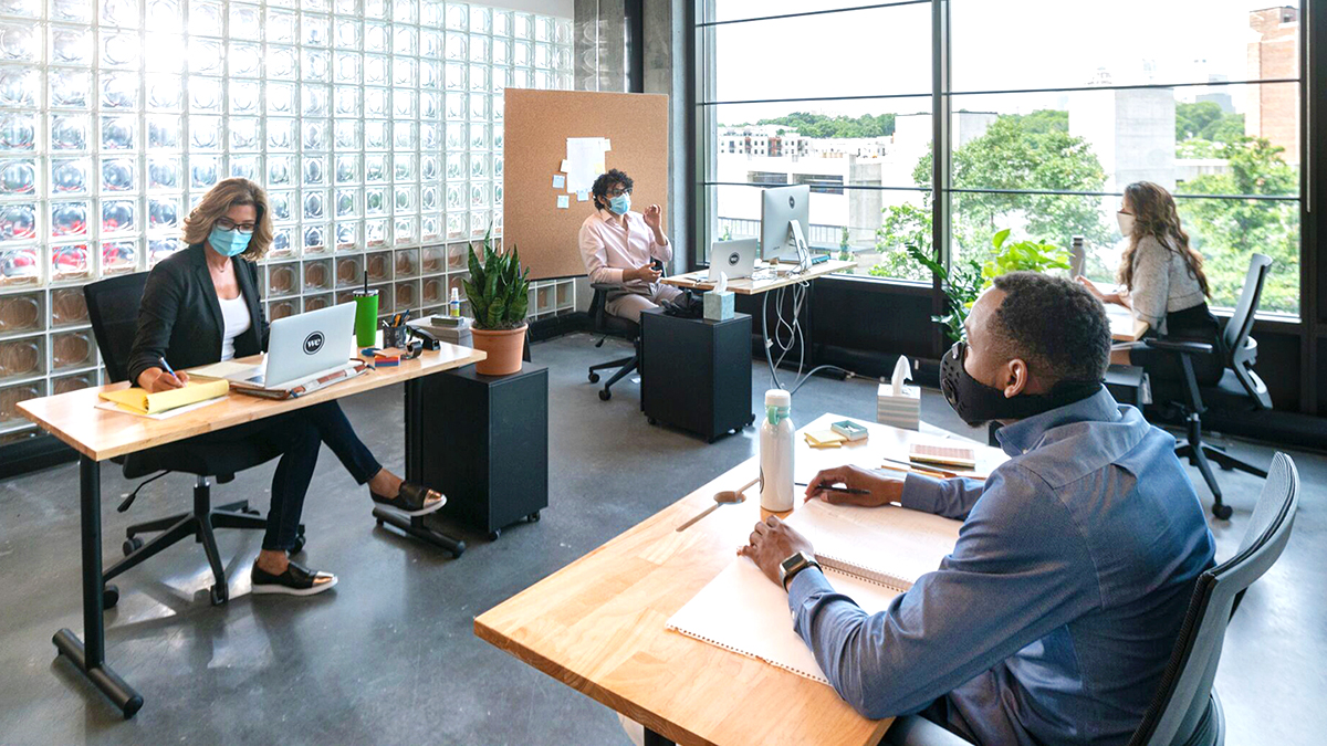 Effective social distancing office layouts - Ideas