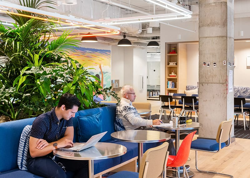 WeWork coworking space in Los Angeles at The Hubb in Long Beach