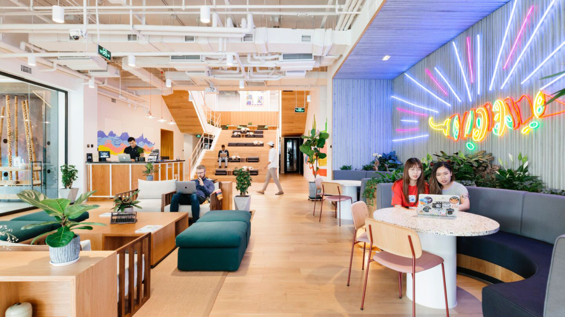 WeWork 31 Zongfu Lu em Chengdu, China. Fotografia da The We Company
